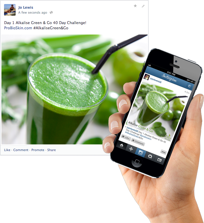 Alkalising Green Green & Go Blogging example