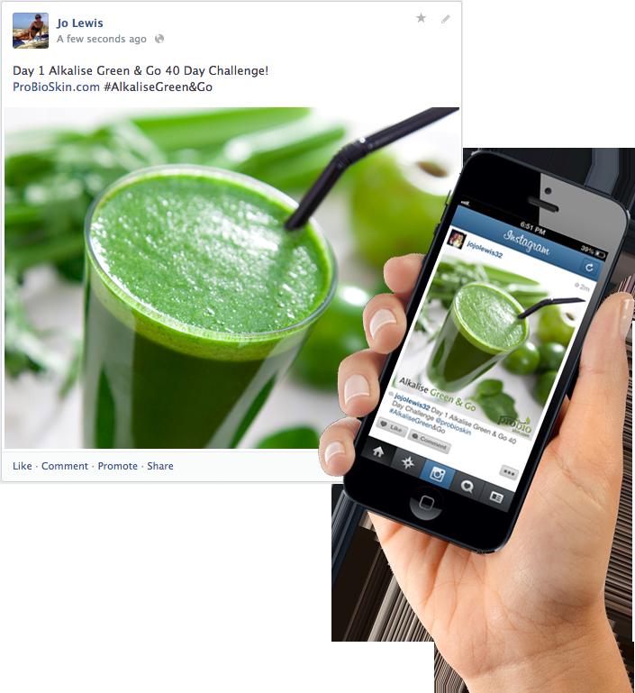 Alkalising Green Green & Go Blogging example