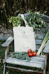 Mayella Organic Cotton Calico Tote Shopping Bag