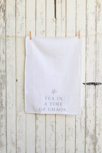 Mayella Living White cotton tea towel