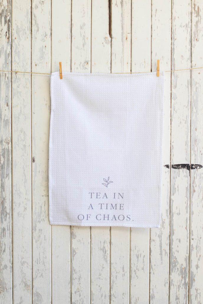 Mayella Living White cotton tea towel