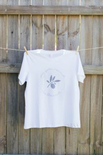 Mayella Nourish to Flourish Whit organic cotton tee